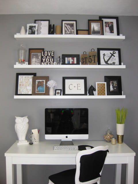 diseño despacho en blanco y gris
