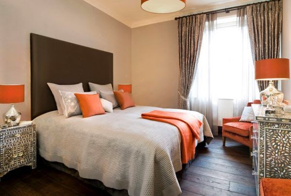 dormitorio-decordo-marron-naranja