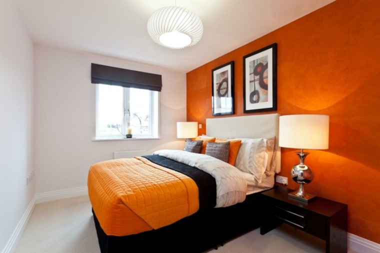 dormitorio-paredes-blanco-naranja-ideas