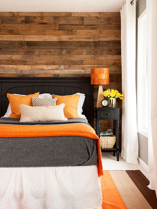 dormitorio detalles naranja