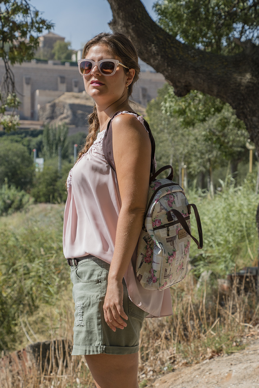 look de verano / summer look: caqui + pink