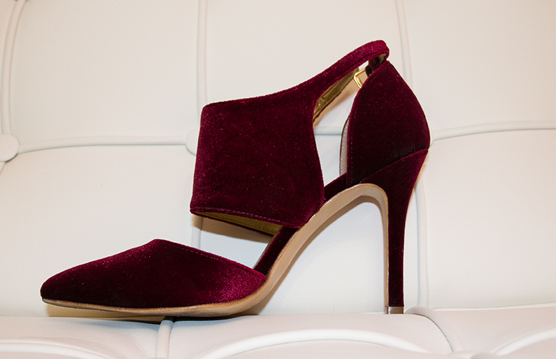 zapato de terciopelo burgundy, Deichmann Ellie Star colletion